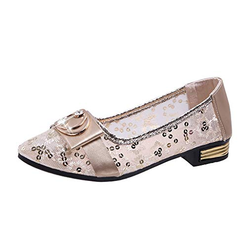 NMERWT Damen Sommer Flache Sohle Schuhe Frauen Atmungsaktive Hohle Spitze Sandalen Flache Schuhe - Gola-spitze Schuhe