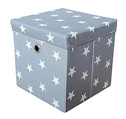 Braun Lifeney Aufbewahrungsbox Kinder mit Deckel I Niedliche Spielzeugkiste I Aufbewahrungsboxen f/ür Kinderzimmer I Faltbox f/ür Spielzeugaufbewahrung I Aufbewahrungskorb Kinder