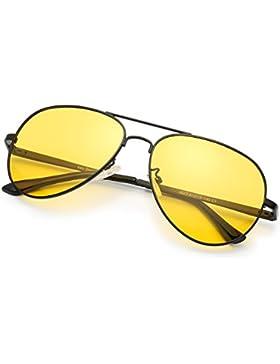 Gafas de sol polarizadas LVIOE Aviator Night Vision HD para la seguridad en la conducción