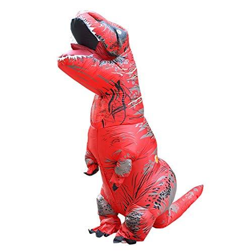 OLLVU Erwachsene Tyrannosaurus Aufblasbare Kleidung Weihnachten Halloween Dinosaurier Cartoon Puppe Requisiten Party Cosplay Kostüm Dinosaurier Spielzeug Overall (Color : Red, Size : 160-190cm) (Dinosaurier Puppe Kostüm)