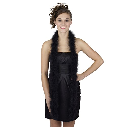 Black Marabou Feather Boa Medium Weight 72