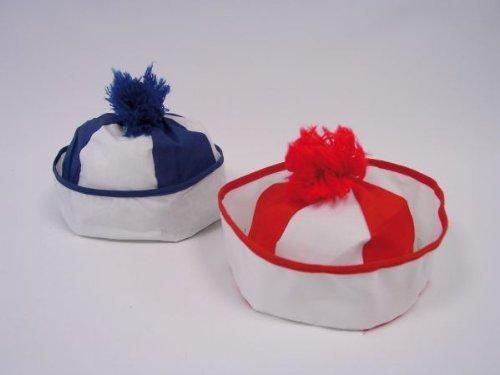 Bobbymütze Karneval Mütze rot-weiß zum Matrosen Kostüm Fasching