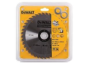 DeWalt DT1153-QZ 190mm x 30mm 40-Tooth Circular Saw Blade Construction
