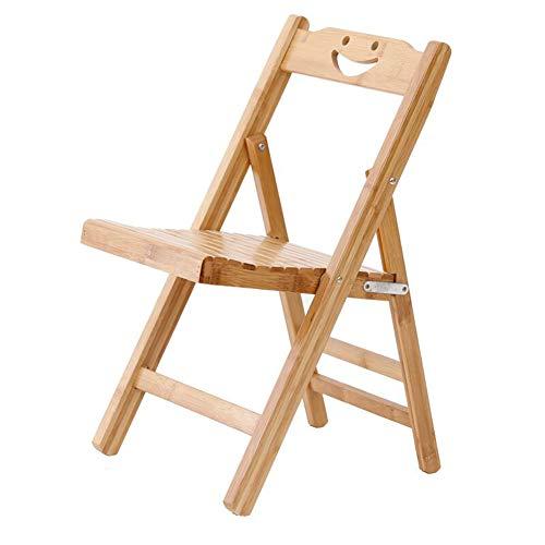 Home Decoration-G.TZ Chaises Pliantes en Bois-Chaise De Bureau-Chaise De Salle À Manger en Bambou - Taille: 56 * 32 * 34Cm (Couleur Bois)