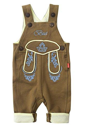 Mogo.cc, BLH Babylederhose Bua, PIZ LANG, 50/56, 0-3 Mon. XS, Stick - Jungen Lederhosen Kostüm