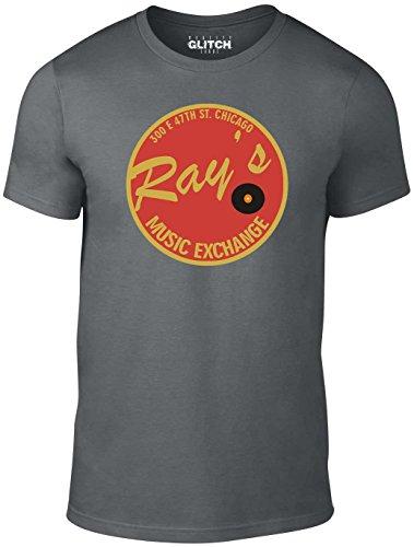 Reality Glitch Herren Rays Music Exchange T-Shirt (Dunkelgrau, Mittel) (Fancy Lieferung Schnelle Dress)