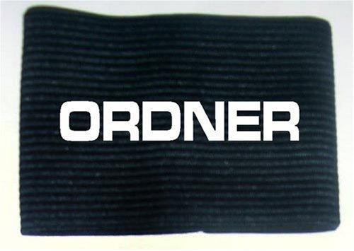 Armbinde bedruckt mit ORDNER / schwarz / 3304