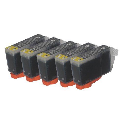 5 Druckerpatronen Tinte für Canon i550 i560 i850 Pixma IP3000 IP4000 Multipass C 100 ersetzen BCI-3 - Drucker Ip4000 Für Tinte Canon