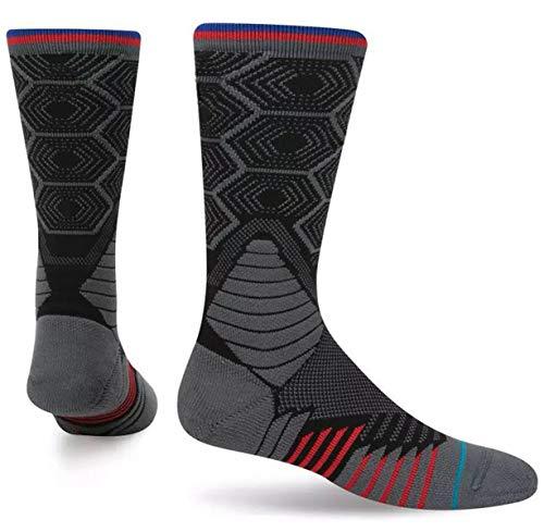 SHENHAI Socken Sportsocken Elite Basketballsocken Beliebige Frottiertuch-Socken, grau, Einheitsgröße