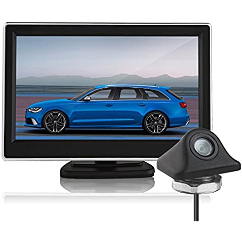 Parcheggio Guasti–BW 5pollici HD 800x 480pixel TFT LCD digitale a colori Car Rear View Monitor + 170Gradi Visione Notturna Car Rear View Camera