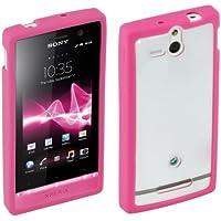 SMA4119P Gummi-Schutzhülle für Xperia U pink