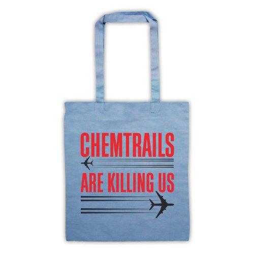Chemtrails sono Killing Us Protest Tote Bag Azzurro