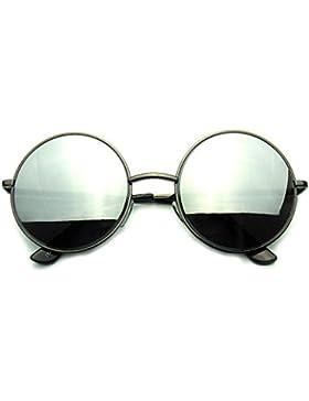 Emblem Eyewear - Metal Redondo Espejo Lente Gafas De Sol
