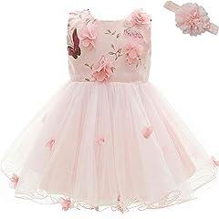 Idea Regalo - AHAHA Vestito Rose da Principessa Bambino per Matrimonio Abiti per Feste di Compleanno per Bambina (0-2anni)