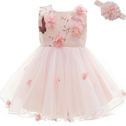 chen Prinzessin Kleider Blumenmädchen Kleid Geburtstagsparty Kleid Brautkleider für Baby (0-2 Jahre) ()