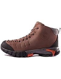 CAMEL CROWN Botas de Senderismo Impermeables Zapatos de Trekking para Hombre Transpirable Zapatilla de Seguridad Trabajo