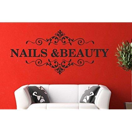 Vkstickers Nail & Beauty Art Wand Zitat Aufkleber Haar Beauty Salon Friseur Aufkleber, 1270mm X 580mm