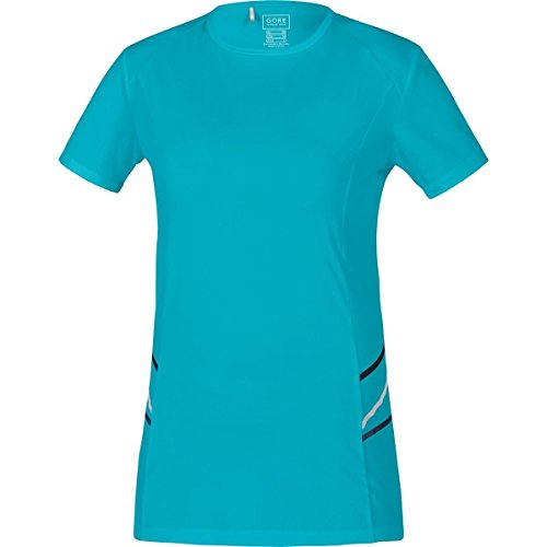 GORE RUNNING WEAR Damen Kurzarm-Laufshirt, GORE Selected Fabrics, MYTHOS LADY Shirt, Größe 42, Türkis, SMYTHL (Tight Cycling Softshell)
