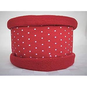 Hundeloop, Hundeschal, Hundeschlauchschal in rot mit weißen Punkten