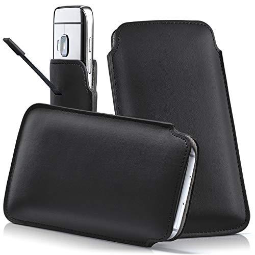 moex HTC Desire 628 | Hülle Schwarz Sleeve Slide Cover Ultra-Slim Schutzhülle Dünn Handyhülle für HTC Desire 628 Case Full Body Handytasche Kunst-Leder Tasche