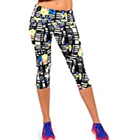 YiyiLai Pattern Printed Fitness Yoga Sport Pants Stretch Cropped Leggings M