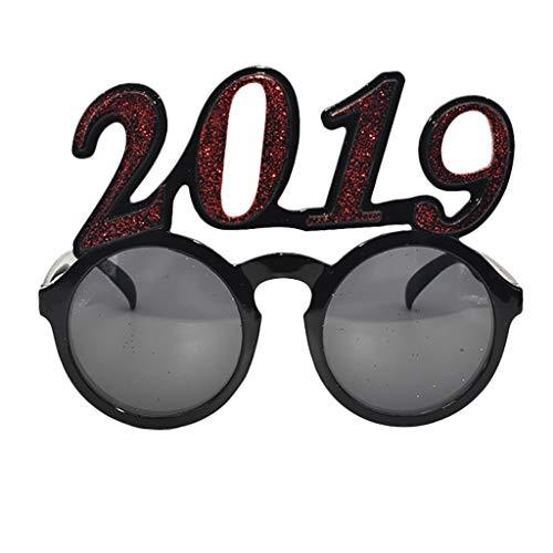 nbrille 2019 Lustig Verrückt Schick Kleid Brille Neuheit Kostüm Party Lustig verrückt Kostüm Neuheit Sonnenbrillen-Zubehör Irisches Festival Karneval Sonnenbrille ()