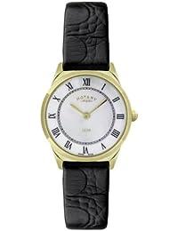 Rotary Ultraflach LS08002/41Women's Wrist Watch, Leather Strap Brown