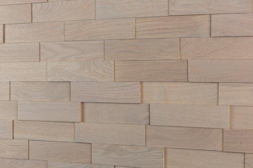 wodewa Wandverkleidung Holz 3D Optik I Eiche Grau I 1m² Wandpaneele Moderne Wanddekoration Holzverkleidung Holzwand Wohnzimmer Küche Schlafzimmer
