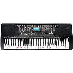 McGrey LK-6150 61 touches synthétiseur avec touches lumineuses et lecteur MP3