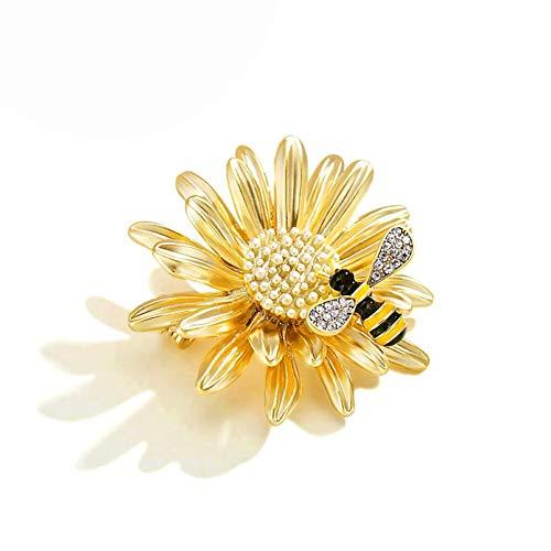 Kostüm Bee Daisy - CCJIAC Bee Daisy Emaille Pin Mode Mädchen Brosche Pins Rhinstone Broschen Für Frauen Schal Clip Insekt Pin Zubehör