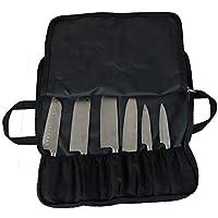 QEES - Bolso para Cuchillos de Chef (14 Compartimentos), Color Negro