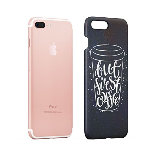 Coffee Mugs Pattern Dünne Rückschale aus Hartplastik für iPhone 7 Plus & iPhone 8 Plus Handy Hülle Schutzhülle Slim Fit Case cover Coffee Mug