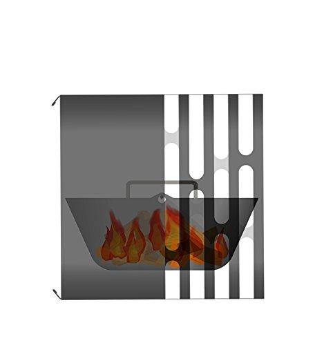 Hfats Cube Feuerkorb Grill Hocker Feuerstelle Feuerkorb Edelstahl Schwarz Feuerschale Garten Terrasse