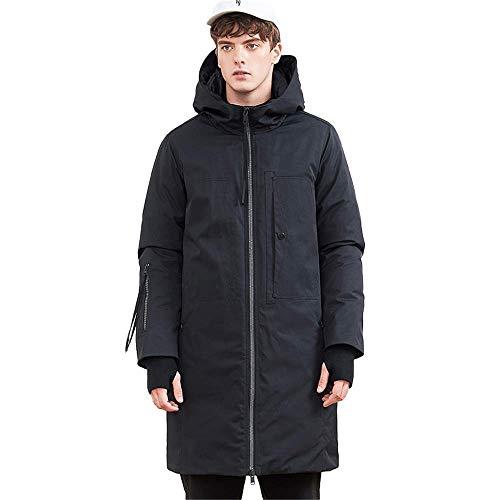 KBY-MM Daunenjacke für Männer Marke Kleidung Lange Winter Dicke warme Ente Daunenjacke männlich Schwarz,XL,China