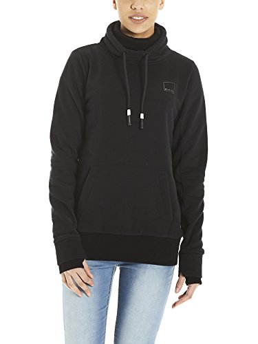 Bench Damen Sweatshirt HER. Overhead Funnel, Schwarz (Black Beauty Bk11179), Medium