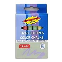 SUPERTITE ANTI-DUST CHALK (Colour- 12 Sticks/Box)