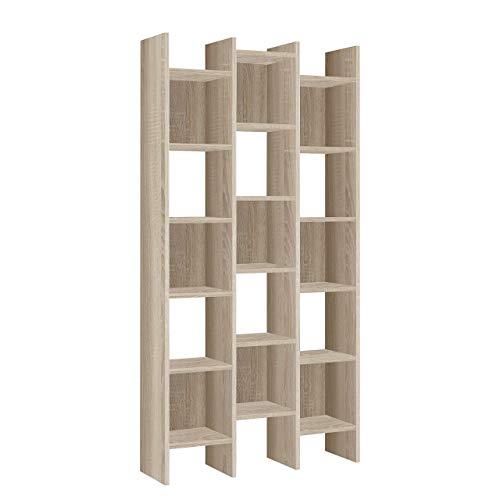 Habitdesign - Estantería librería, estanteria despacho, Comedor o Salon, Medidas: 192x96x25 cm de Fondo (Roble Canadian -)