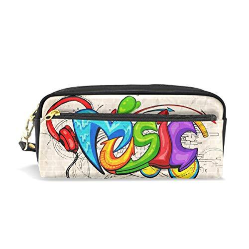 Ahomy Musik-Headset Federmäppchen für Mädchen und Jungen, Stifttasche, Make-up-Tasche, Portemonnaie, große Kapazität, wasserdicht für Frauen