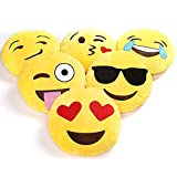 Charms Gift Basket Plush Emoji Soft Round, Wink, Kiss, Heart and Love Cushion