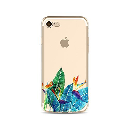 Coque iPhone 6 Plus 6s Plus Housse étui-Case Transparent Liquid Crystal en TPU Silicone Clair,Protection Ultra Mince Premium,Coque Prime pour iPhone 6 Plus 6s Plus-Les feuilles-style 19 4