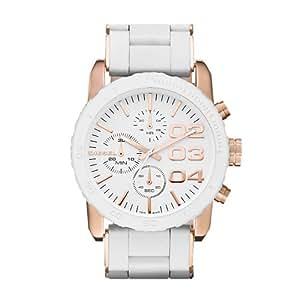 Diesel - DZ5323 - Montre Femme - Quartz Analogique - Cadran Blanc - Bracelet Acier Blanc