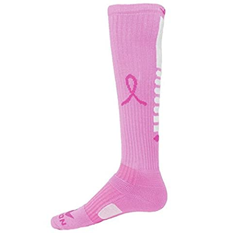 Red Lion Ribbon Pegasus 2 Breast Cancer Awareness Sock ( Pale Pink / Neon Pin... by RED LION