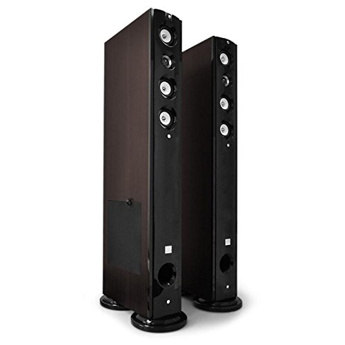 Koda D92F 5-Way Hifi Floor Standing Speakers with Stylish Black Piano Lacquer and Pedestal Base with Vibration Absorbers High-Performance Home Theater Amplifiers (8`` Subwoofer Bass, 2 x 60W RMS Output