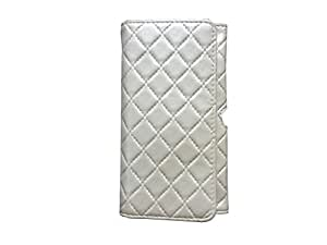 Atv Pu leather Pouch Case Flip Cover For Htc Butterfly S(Cream White)