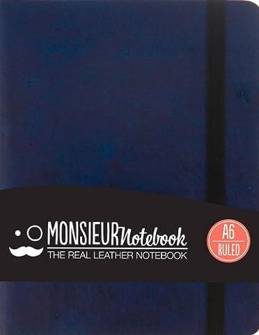Monsieur Notebook Navy Leather Ruled