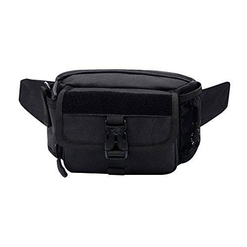 Samtlan - Military Single Schulter Fanny Packs, Multifunktionale wasserdichte Taille Pack Tasche zum Wandern Klettern Outdoor Schwarz