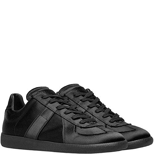 Margiela Maison Replik Wildleder und Leder-Sneakers schwarz UK 9 Black
