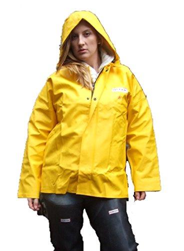 Ocean Classic Jacke - Ölzeugjacke aus PVC auf Baumwollträger. DAS Ölzeug für den Profi (4XL, gelb)