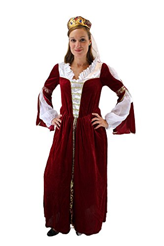 Dress me up - costume prezioso da donna regina principessa nobildonna medioevo taglia m