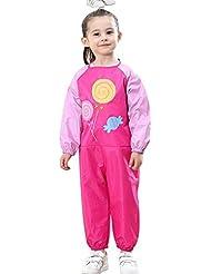 Vêtements pour enfants Siamois Vêtements pour garçons et filles pour bébés Vêtements de peinture étanche Vêtements de sable Vêtements d'escalade Mangez des vêtements avec 6 couleurs